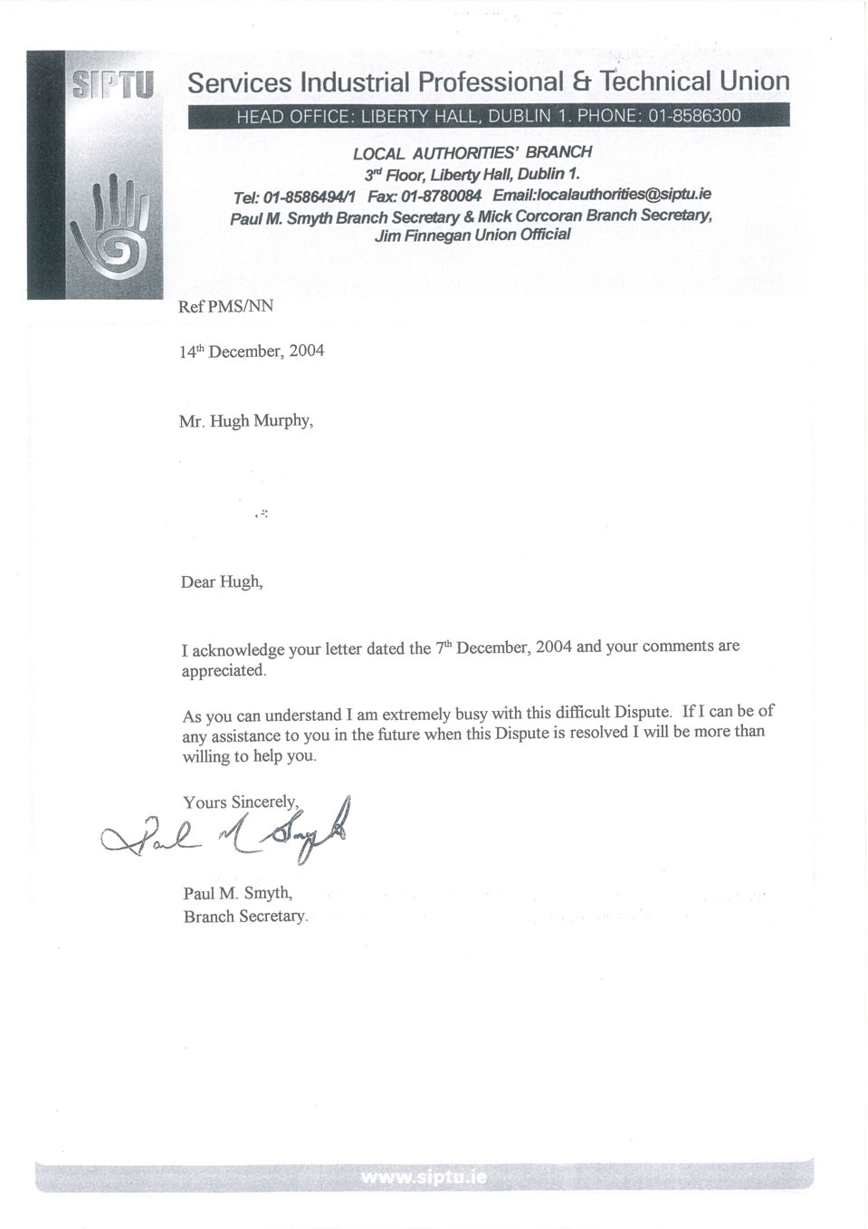 SIPTU President Jack O'Connor Exposed
